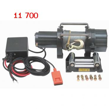 5500 Lb. Capacity 12 Volt Winch With Roller Fairlead